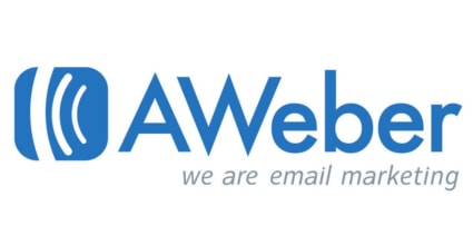 The Aweber logo. Featured here as the best email marketing software for beginners