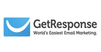 The GetResponse logo. Featured here as the best email tool for affiliate marketing